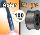 Bobine de fil fourré  ACIER  NO-GAZ  - Diamètre 100 mm