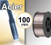 Bobine de fil ACIER - Diamètre 100 mm