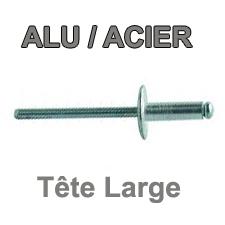 Rivets ALU / ACIER  - Tête large
