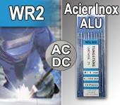 Electrodes tig WR2 - Soudure Acier / Inox / Aluminium