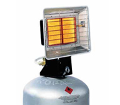 Radiant orientable au gaz
