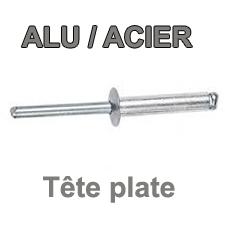 Rivets ALU / ACIER - Tête plate