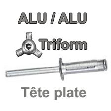 Rivets ALU / ALU  - TRIFORM (spécial plaques)