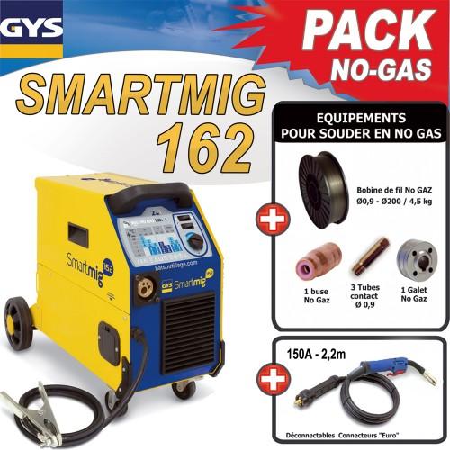 Pack no gas poste de soudure mig smartmig 162 160a 230v 2 en1 gys - Poste a souder castorama ...