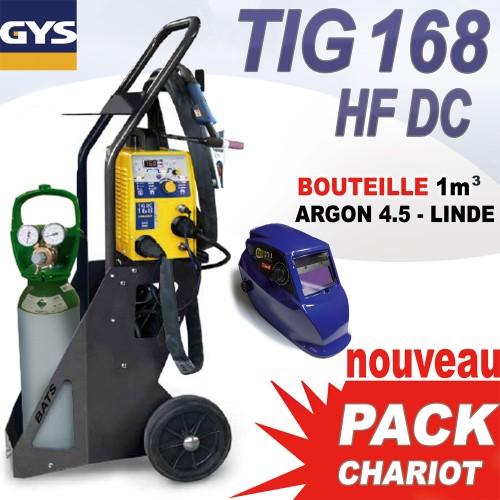 pack chariot tig 168 hf dc avec bouteille gaz 1 m3 masque. Black Bedroom Furniture Sets. Home Design Ideas
