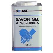 SAVON GEL ROUGE MICROBILLES - 4,5 L Boite métallique