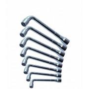 Jeu de 8 clés à pipe débouchées KS, 8-10-11-13-17-19-22-24 mm -carton- 6x6 pans -