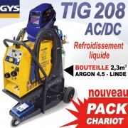 TIG 208 AVEC CHARIOT ET BOUTEILLE ARGON 4.5