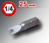 "Embout SPANNER  longueur 25 mm  1/4"" (6,35mm)"