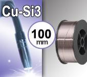 Bobine de fil CUPRO SILICIUM - Diamètre 100 mm