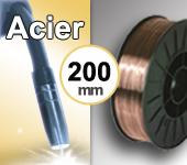 Bobine de fil ACIER - Diamètre 200 mm