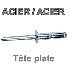 Rivets ACIER / ACIER  - Tête plate