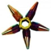Etoile N°0 - 5 becs de chalumeaux sur clé - Acétylène