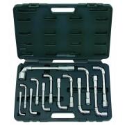 Jeu de clés à pipe débouchées 6 pans 8-9-10-11-12-13-14-15-16-17-18-19-24mm