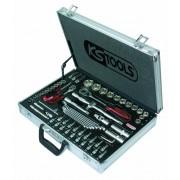 "Coffret de douilles en aluminium  KS 1/2""et 1/4"" - 4 à 32 mm + clés mixtes"