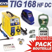PACK BOUTEILLE TIG 168 GYS - complet